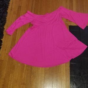 Torrid Pink off shoulder dress